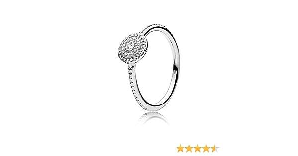 4c20b3641 Amazon.com: PANDORA Radiant Elegance Ring, Clear CZ 190986CZ-56 EU 7.5 US:  Jewelry