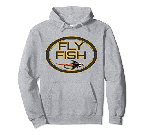 Fly Fishing Hoodie Shirt To Wear Under Waders & Fishing Vest ()