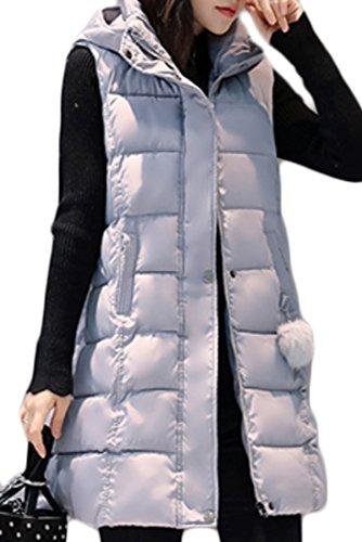 引き付けるでもリサイクルするHeaven Days(ヘブンデイズ) コート ノースリーブ ダウンベスト レディース 女 ベスト 防寒 中綿 ロング丈 ノースリーブコート フード ジッパー チャック 1710D404
