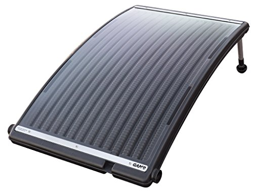 Swimming Pool Solar Heating Panels - GAME 4721 SolarPRO Curve Solar Pool Heater for Intex & Bestway Above Ground and in Ground Pools (Includes Intex Adapters)