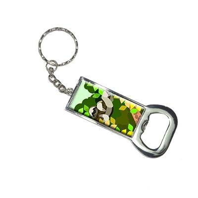 Graphics And More Bottlecap Opener Key Chain, Geometric Sloth Yellow (Kk6265) - 2012-06-26