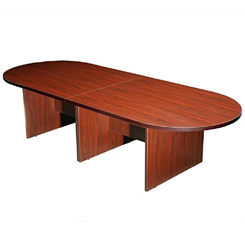 Boss Office Products 10Ft Race Track Conference Table, Mahogany ()