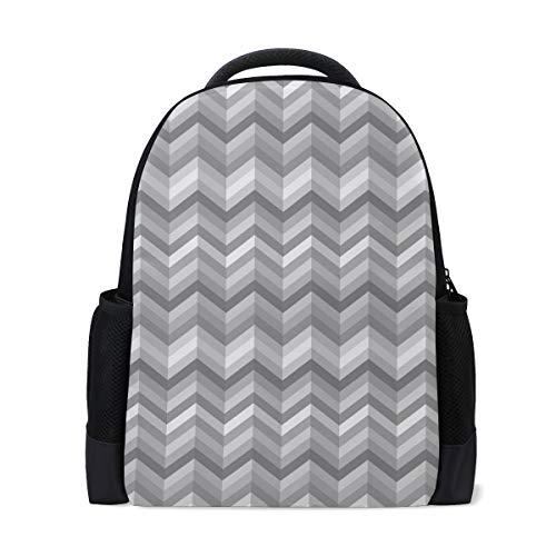 Price comparison product image Monochrome Stripes Three Dimensional Pattern Student Backpack,  Laptop School Backpack for Men Women,  Travel College Bookbag Back Bag for Boys Girls