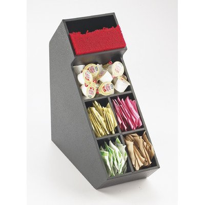 Cal-Mil 2052 Classic Stir Stick and Condiment Display, 14.25'' Height, 5.5'' Width, 13.25'' Length