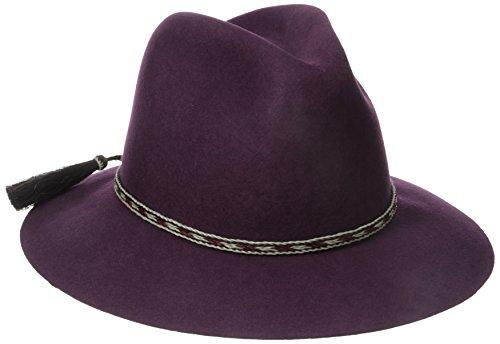 'ale by alessandra Women's Cavalo Adjustable Felt Hat with Horse Tail Trim, Bordeaux, Adjustable Head Size
