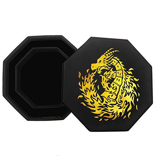 Fantasydice - GOLD - Fire Dragon - Dice Tray - 8