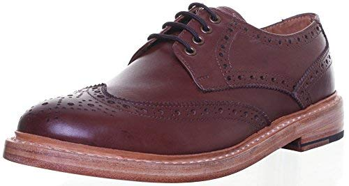 - Justin Reece GoodYear Welted Mens Lace up Brogue Leathersole Shoe (45 EU, Brown)