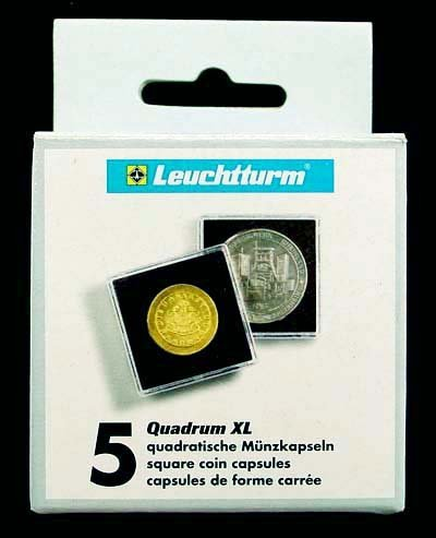 45mm QUADRUM XL Coin Storage - 5 Pack of 45mm Coin Holders ()