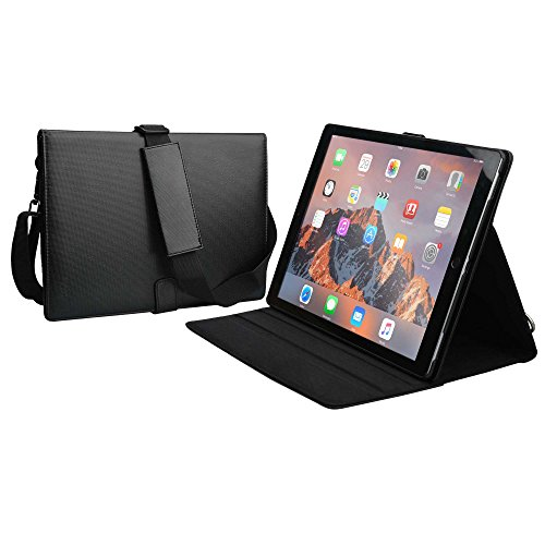 COOPER MAGIC CARRY II PRO case compatible with iPad Pro 12.9 | Protective Tablet Folio Cover w Handle & Stand | Carrying Case, Business School Restaurant Travel | Apple A1584 A1652 A1670 A1671 (Black)