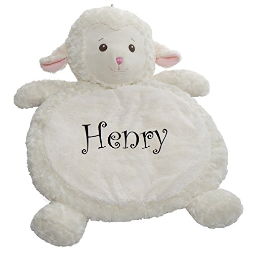 Personalized Mary Meyer Bestever Baby Mat Perfect Baby Gift (Lamb)