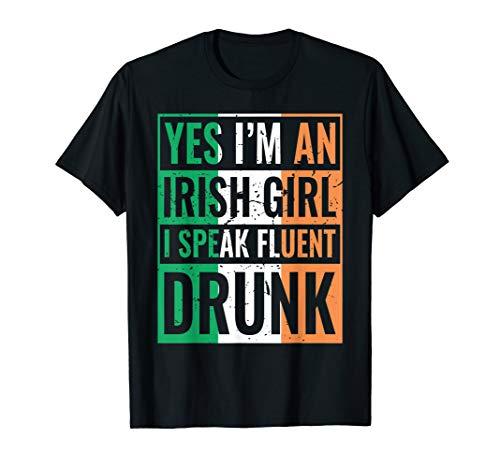 St. Patricks Day Drunk Irish Girl Woman Shirt