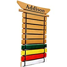 Personalized Asian Top Martial Arts Belt Holder - 10 Level