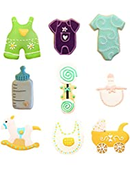 Yunko Baby Shower Theme Buggy Rocking Horse Bottle Cookie Cutter 9 Piece Set