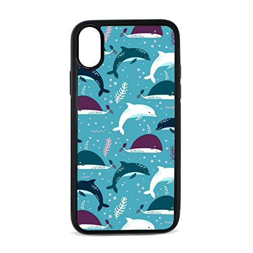 (Miami Dolphin Costume Fun TPU Back Cover case iphoneX case Mobile Phone Shell Printing Edge Fashion Shockproof Case)