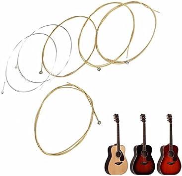 LaDicha Conjunto De 6 Cuerdas De Guitarra De Cobre para Guitarra ...