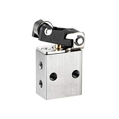 S3HL-M5 2 Position 3 Way M5 Manual Hand Pull Pneumatic Solenoid Mechanical Valve
