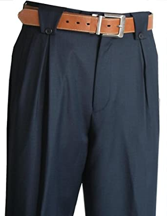1920s Style Men's Pants & Plus Four Knickers Wide Leg Mens Pants Navy $99.00 AT vintagedancer.com