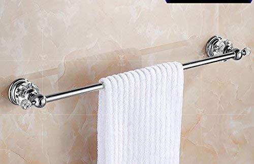 Willsego Los baños Son de Oro Rosa, Toalla de Cristal, Estante, baño de latón Antiguo, una Sola Palanca, Inodoro, 62 cm (Color : 62cm)