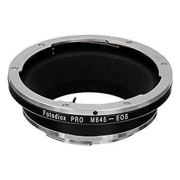 Fotodiox Pro Lens Mount Adapter Compatible with Mamiya 645 MF Lenses on  Canon EOS EF/EF-s Cameras