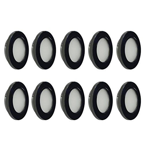 - Dream Lighting LED Recessed Lighting Fixture - 2W LED Ceiling Lights - Warm White Downlight Kit Black Shell Pack of 10