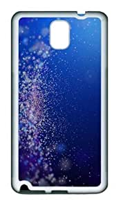 Abstract Light Particles TPU Custom Samsung Galaxy Note 3/Note III/N9000 Case and Cover - White
