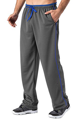 FASKUNOIE Men's Lightweight Sweatpant Loose Fit Quick Dry Breathable Running Joggers with Zipper Pockets