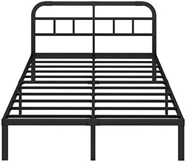 Strengthen Support Mattress Foundation ZIYOO 14 inch Heavy Duty Steel Slat Platform Bed Frame Twin Non-Slip Design Quiet Noise Free