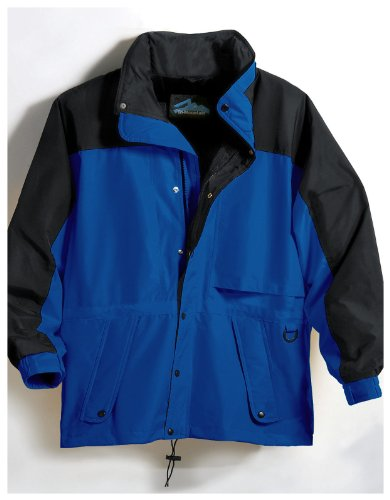 Tri-Mountain Climax Colorblock Parka, XLT, Imperial Blue/Black