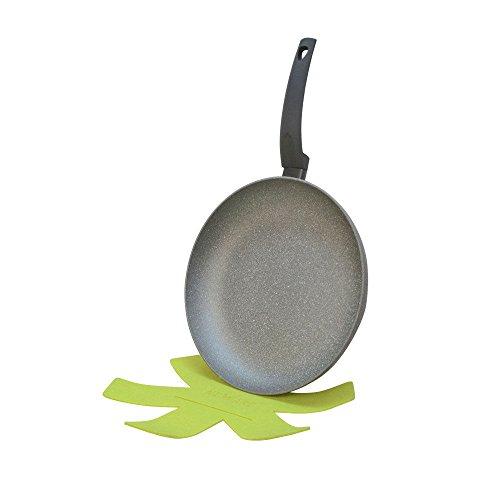 7' Fry Pan (12'' Lava Stone Fry Frying Pan w/ Felt Pad Non Stick Scratch Resistant Skillet Eco Friendly)