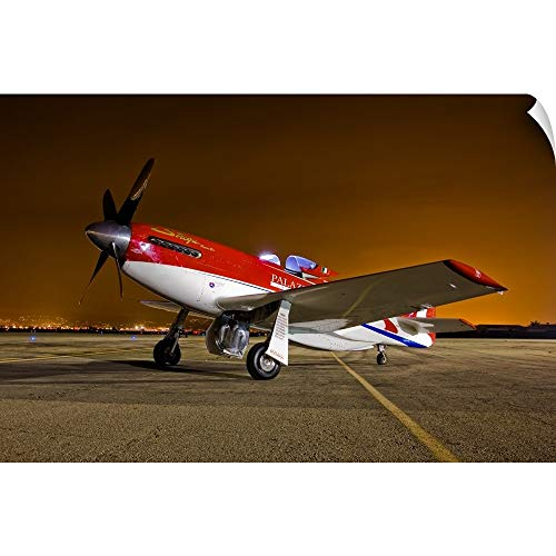 CANVAS ON DEMAND Scott Germain Wall Peel Wall Art Print Entitled Strega, a Highly Modified P 51D Mustang Racer ()