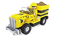 Ausini Construction Yellow Truck with Action Figures Building Bricks 84pc Educational Blocks Set Compatible to Lego Parts – Great Gift for Children