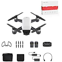 DJI Spark Portable Mini Drone Palm launch Quadcopter Alpine White (Fly More Combo)