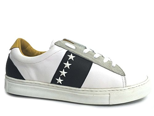 Invicta 4461112 Nero Scarpa Uomo Sneaker Cassetta Pelle Bianca
