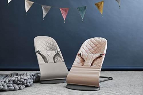 BABYBJORN Cotton Bouncer Bliss, Sand Grey by BabyBjörn (Image #4)