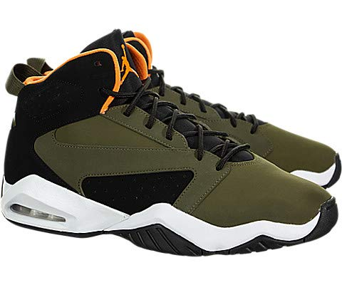 Jordan Mens Lift Off Olive Canvas Cone Black White Size 8