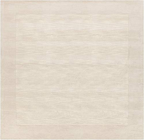(Surya Mystique 9'9 x 9'9 Square Hand Loomed Wool Rug in Neutral)