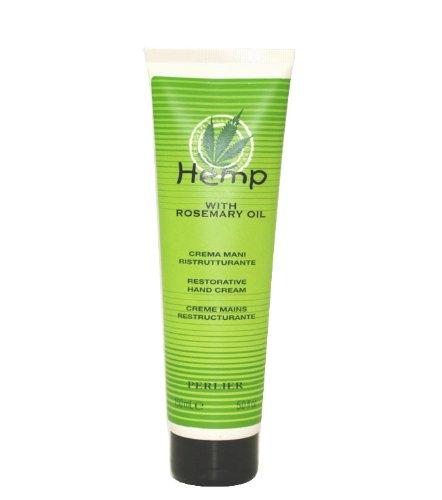 (Perlier Hemp With Rosemary Oil by Perlier for Women Restorative Hand Cream 5 Ounce)