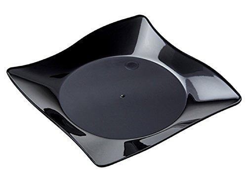 WNA APTSQ4BL Petites Square Plastic Plates, 4