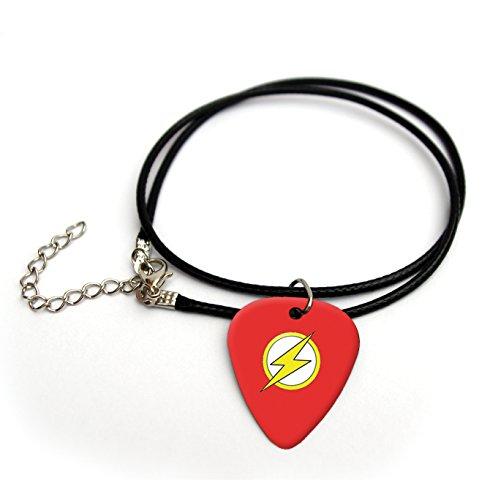 Flash superhero printed guitar pick necklace 18