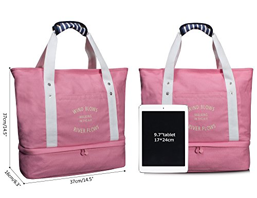 Bag Gym Sports Multifunction Night Duffel Weekend Pink Travel Leaper Flight Luggage wBxY81qxz