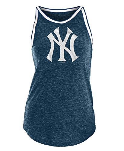 New York Yankees Women's Bleacher Tri-Blend Tank Top Small