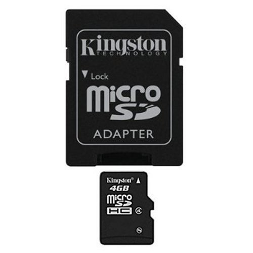 Kingston 4 GB microSDHC Class 4 Flash Memory Card SDC4/4GBET