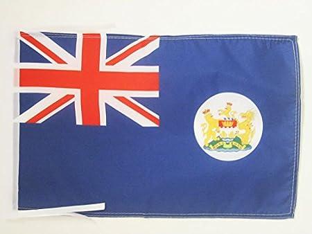 Former Hong Konger Desk Flag 21 x 14 cm Black plastic stick and base AZ FLAG Hong Kong Old Table Flag 5 x 8