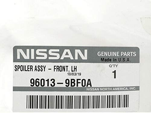 Ctr Genuine Nissan Parts Front Air Spoiler Assy 96011-9BA0A