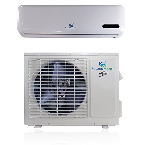 18000 Btu (1.5 Ton) Inverter Ductless Mini Split, Air Conditioner, Heat Pump, Heating, Cooling, Dehumidification, Ventilation. Comes with 10 Feet Installation Kit. 208~230 Vac