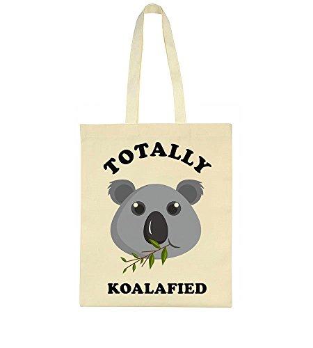 Leaf Tote Totally Eating Eating Koalafied Bag Leaf Design Tote Totally Koala Koala Design Funny Funny Koalafied wUqxI0x7f