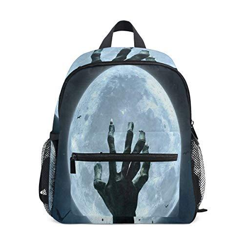 Halloween Zombie Hand Grave Full Moon School Backpack for Girls Kids Kindergarten School Bags Child Bookbag -