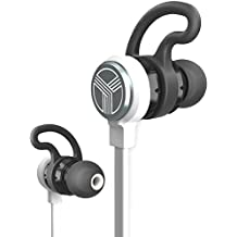 TREBLAB J1 Bluetooth Earbuds, Best Wireless Headphones For Sports Gym Running. [2017 Upgraded] IPX6 Waterproof Sweatproof, Magnetic Secure-Fit Headset. Noise Cancelling Earphones w/ Microphone Mic