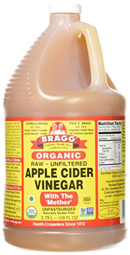 Bragg, Organic Apple Cider Vinegar, Raw, Unfiltered, with The Mother, 128 - Brad 64 Long