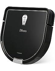 Dibea Aspirateur Robot Laveur Sol Nettoyage humide sec 2 en 1 Nettoyeur Intelligent, 1200pa aspiration puissante, 2 heures, Réservoir d'eau et Télécommande, Recharge automatique D960 Noir